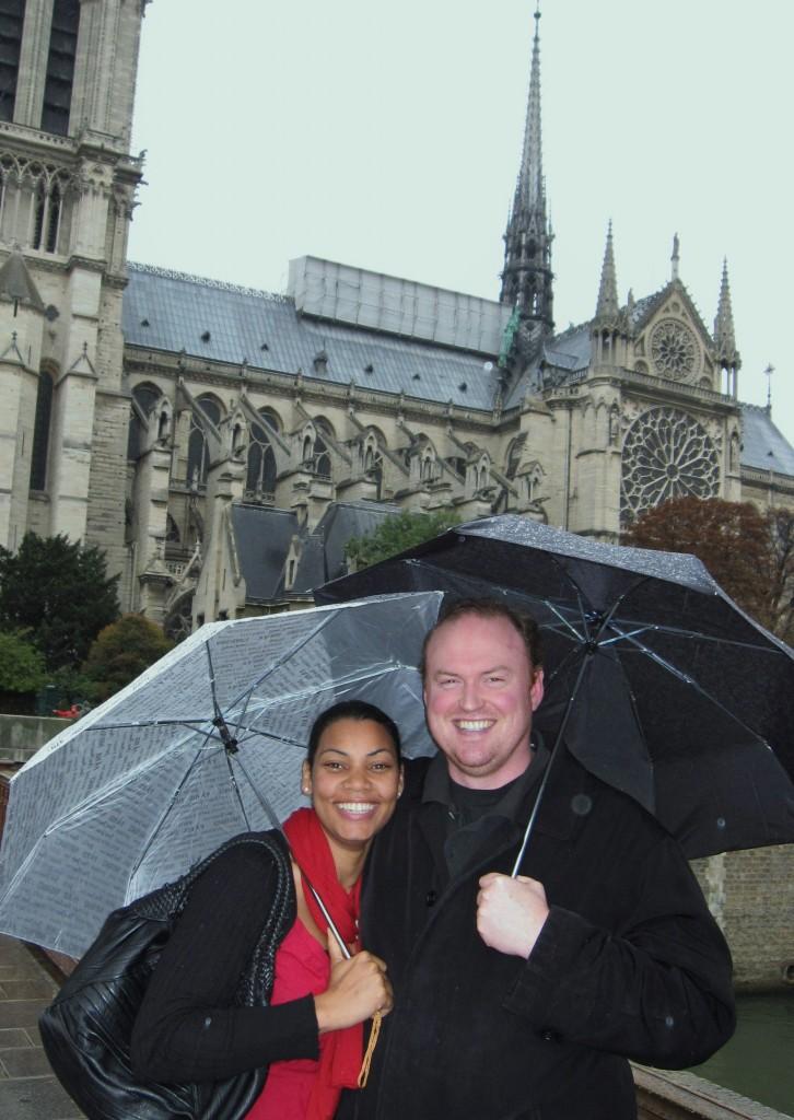 Тим и Лиенн Кернан у Нотр Дама в Париже!