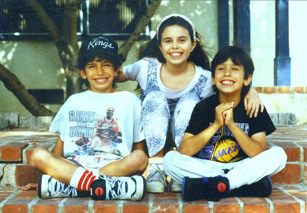 Дети МакКинов в Лос-Анджелесе в 1990!