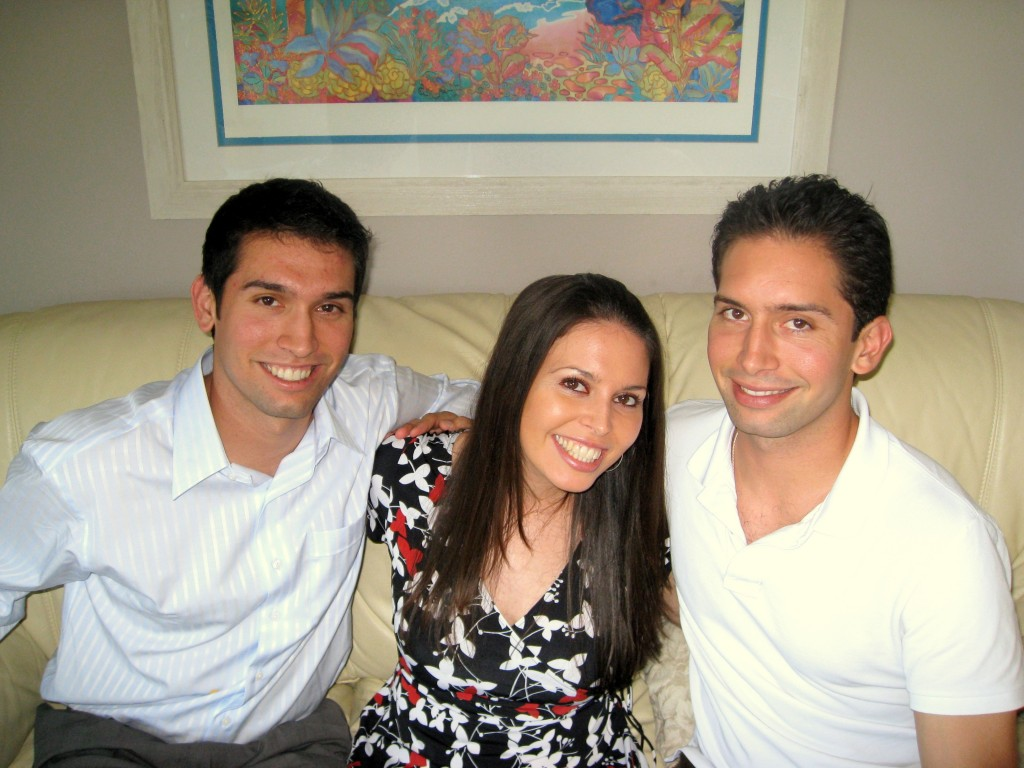 Эрик, Оливия и Шон в 2008!